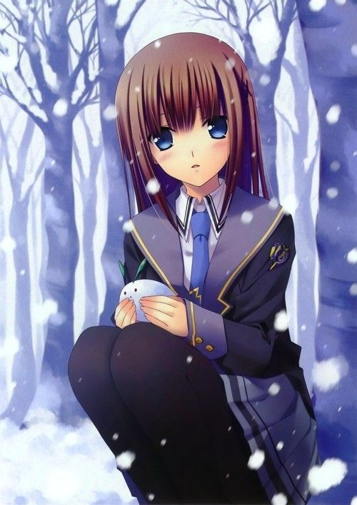 Manga hiver - Image de manga triste ...